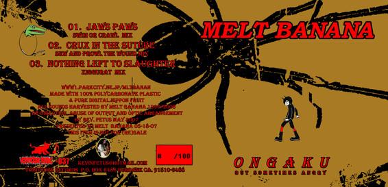 "Melt Banan 3"" CD packaging"