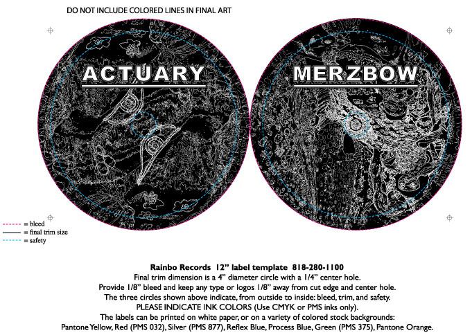 Merzbow / Actuary LP Center Labels