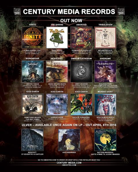 Full Page Ad - Century Media Records