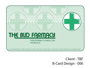 The Bud Farmacy Business Card - Alt Version.