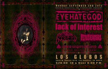 EYEHATEGOD Concert Poster
