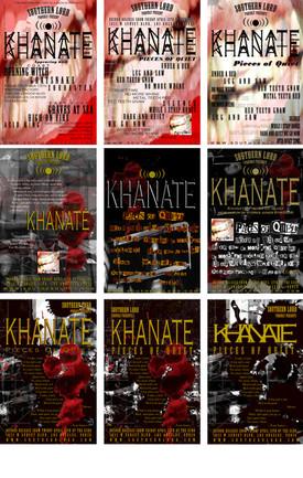 KHANATE Lyric Poster...versions.