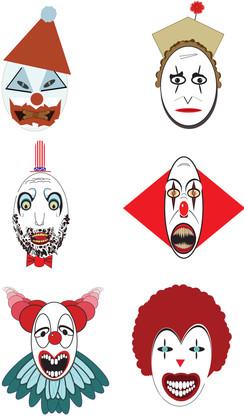 Digital Clown Face Designs