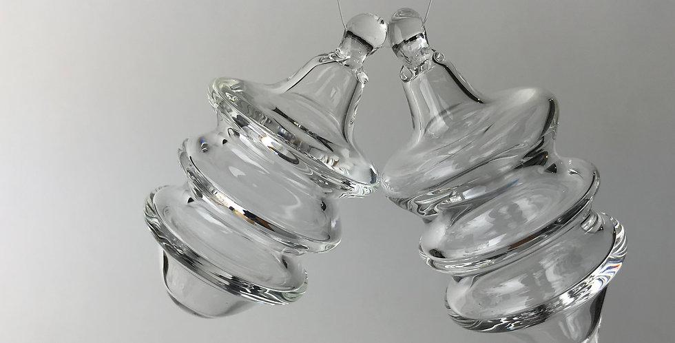 Clear triple maria ring ornament