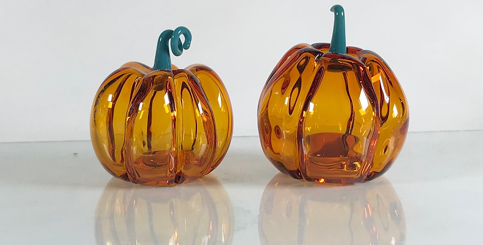 Full Color Hollow Glass pumpkin