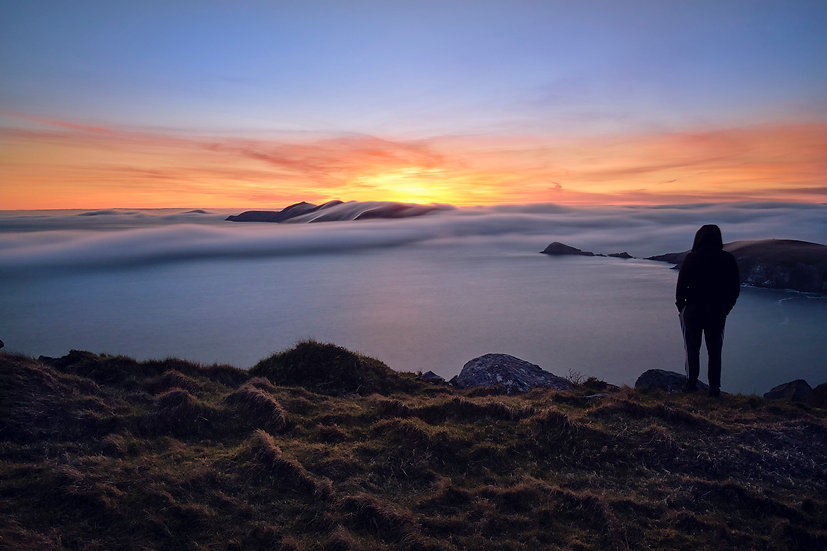 Blasket Islands-Coumeenole-Cloud Inversions- Co.Kerry - Print