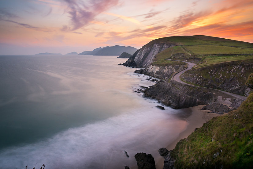 Coumeenole Beach Sunset - Print