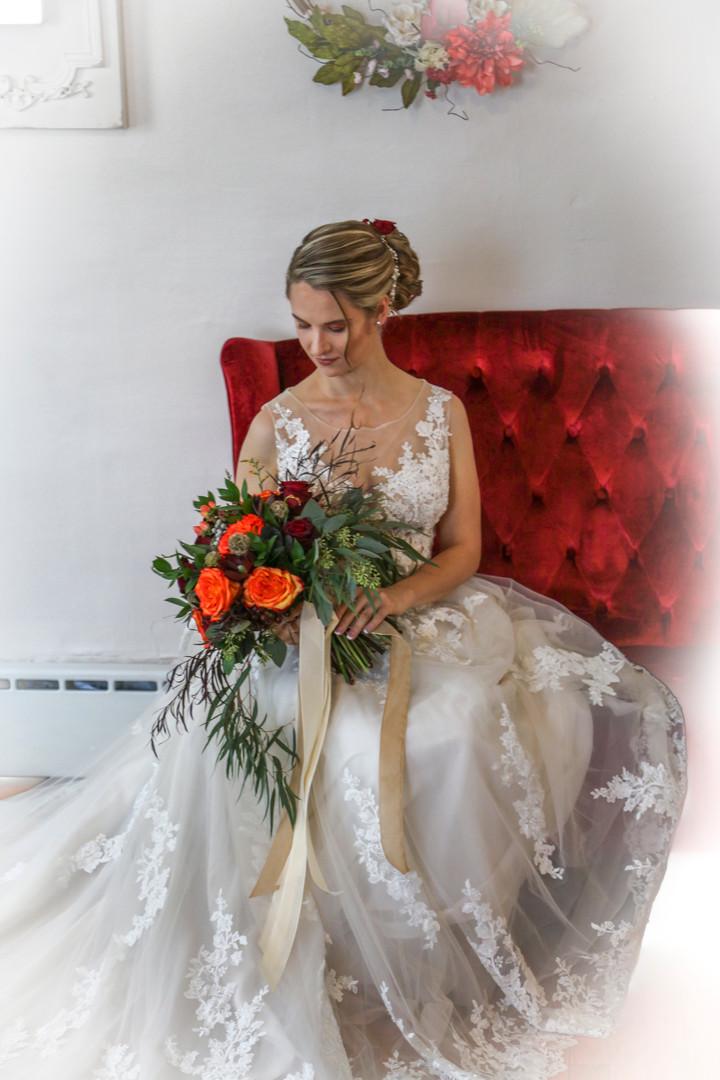 Hollie at bridal house