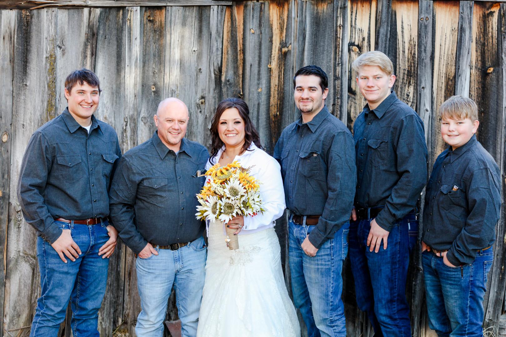 Bride with Boys