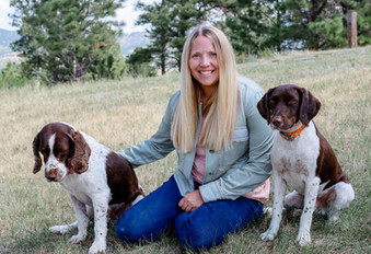 Ann with dogs