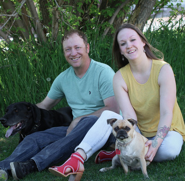 Matt and Julie with fur babies