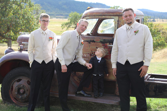 Will with the groomsmen