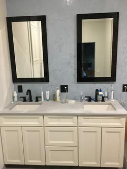 Double vanity mirrors
