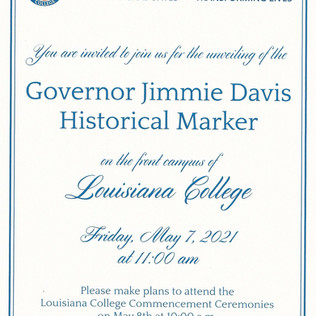 Gov. Jimmie Davis Historical Marker
