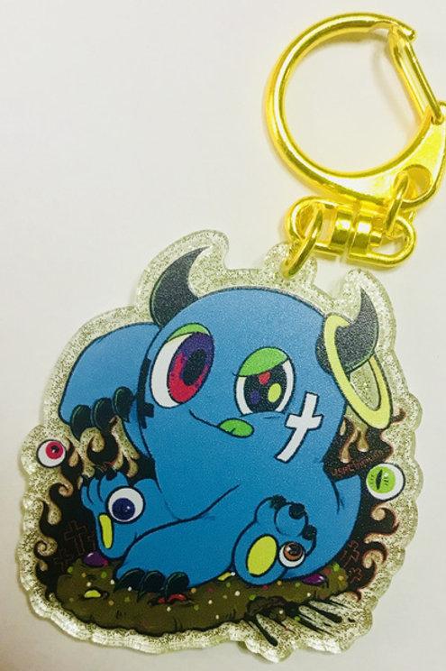usachimus - Blue Monster Acrylic Keychain