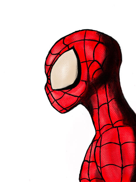 Spider-man Side Bust