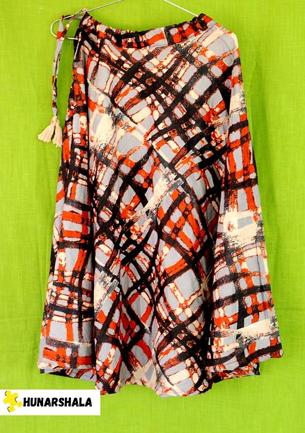 Orange Modern Fashion Woman Fall Poster