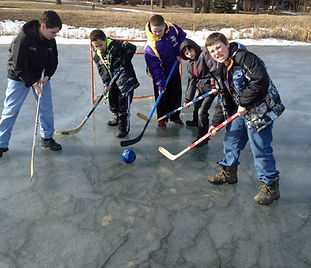 Broomball at Hidden Acres