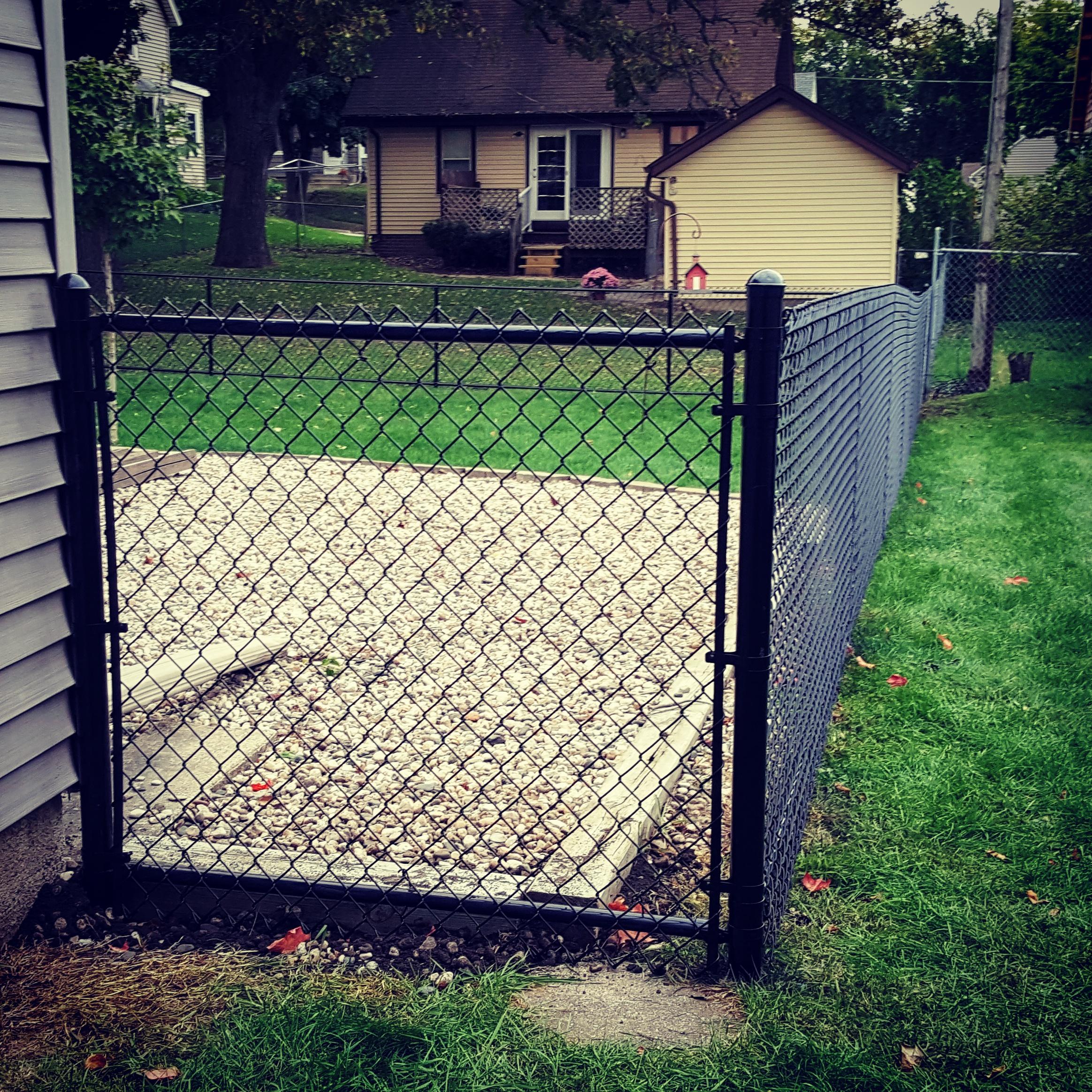 black chain link fencing north iowa