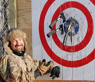 Hatchet Throwing at Hidden Acres in Iowa