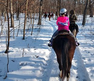 Winter Horse Rides in Iowa at Hidden Acres