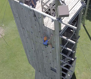 Climbing Tower at Hidden Acres in Iowa