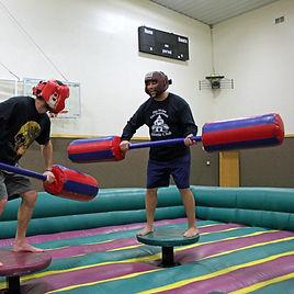 Inflatable Joust at Hidden Acres in Iowa
