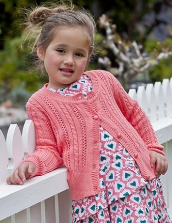 Pink Melon Pointelle Knit Cardigan