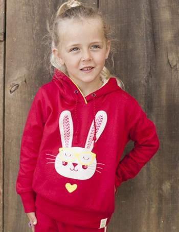 Bunny Pullover Fleece Hoodie