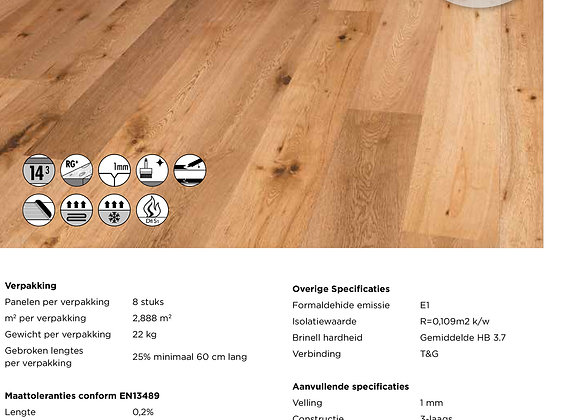 Solidfloor Originals Glaciers Naturel Gelakt