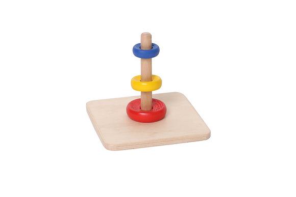 Пирамидка с  кольцами разного диаметра и цвета