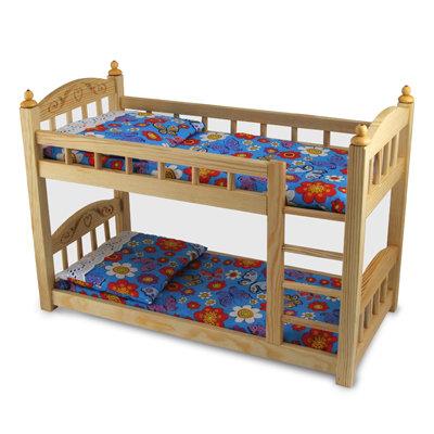 Кукольная кроватка двухъярусная (К6)