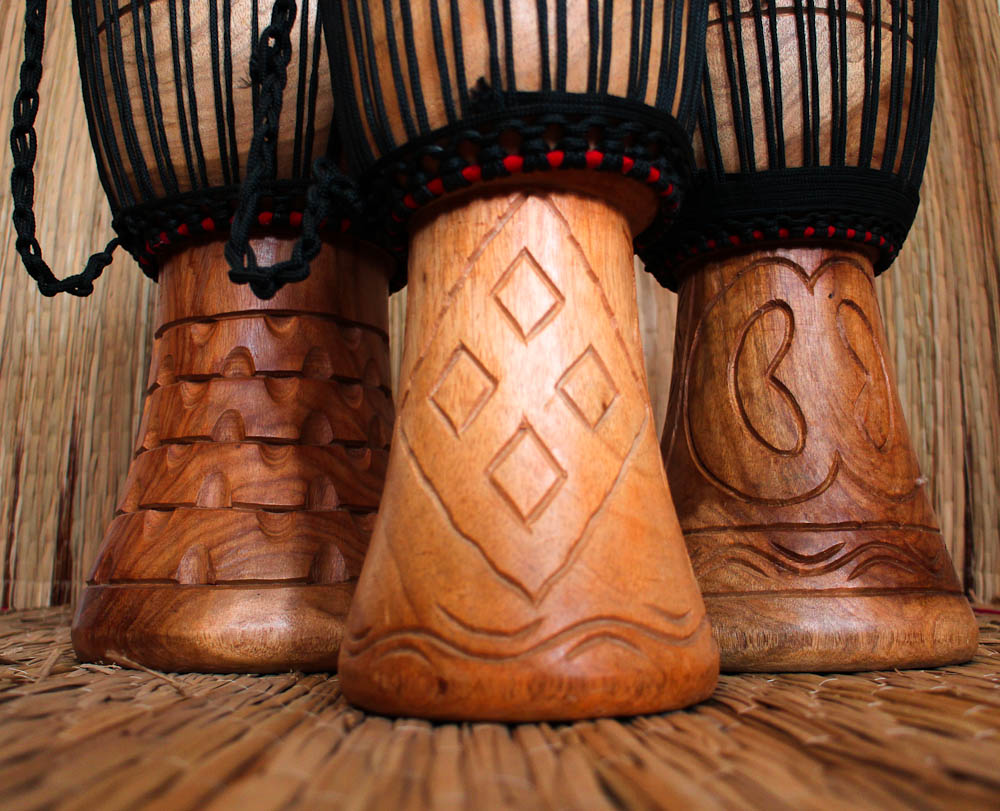 Djembe Drum carvings
