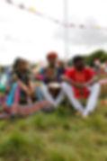 drum circle, Boomtown festival, djembe, drumming