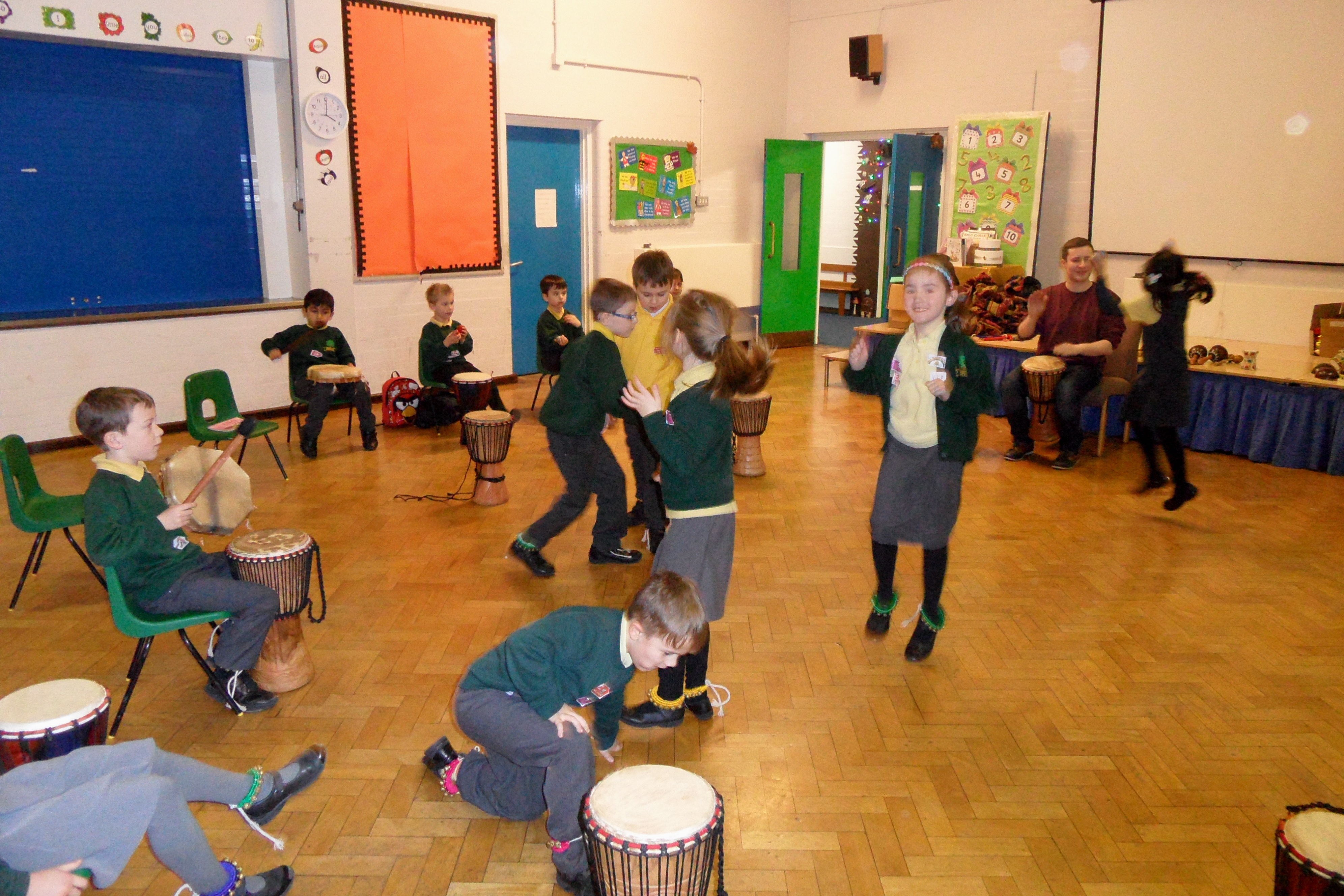 Drumming and dancing