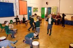 Drumming and dancing