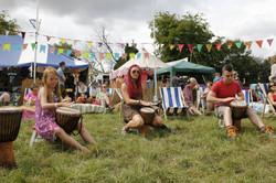 Drum circle participants, Boomtown