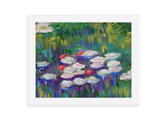 """""""Water Lily"""" 00.3 Framed Poster"""
