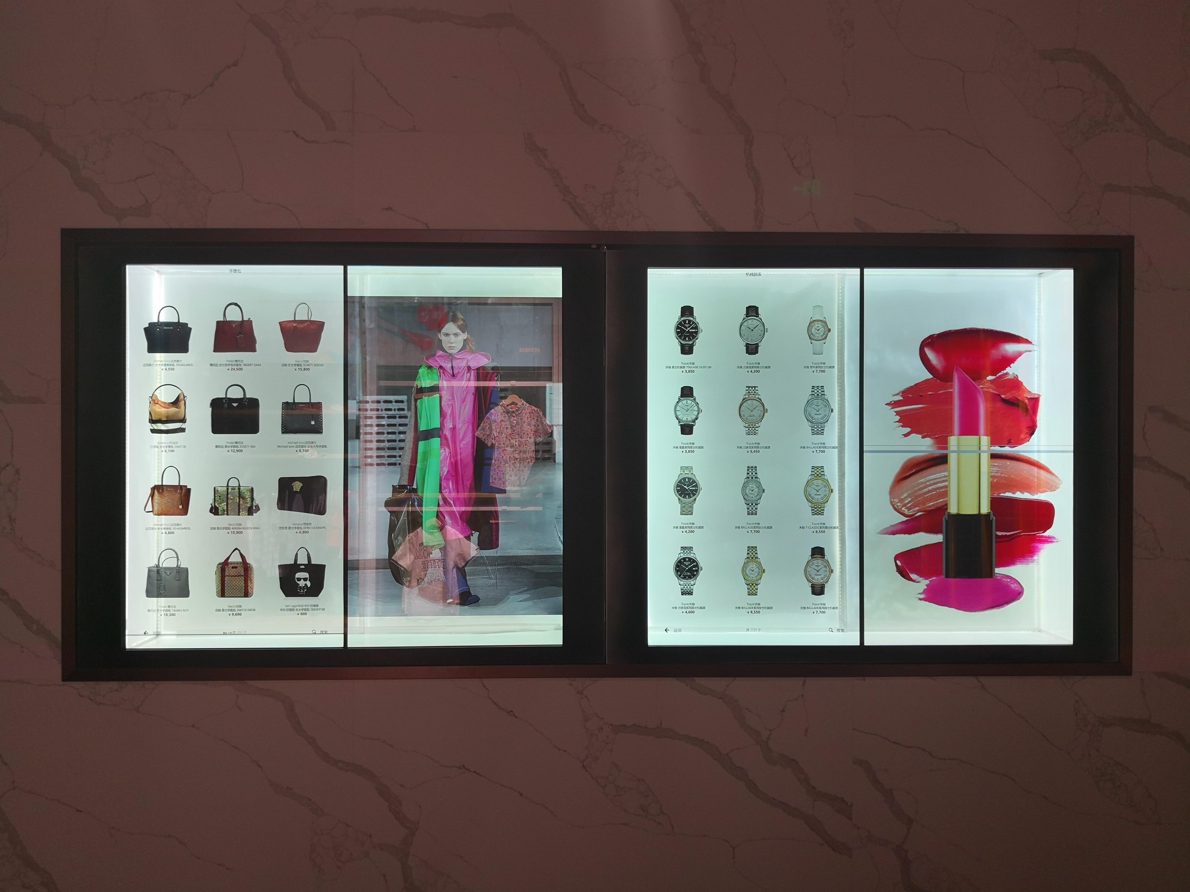 Transparent Shopping Windows