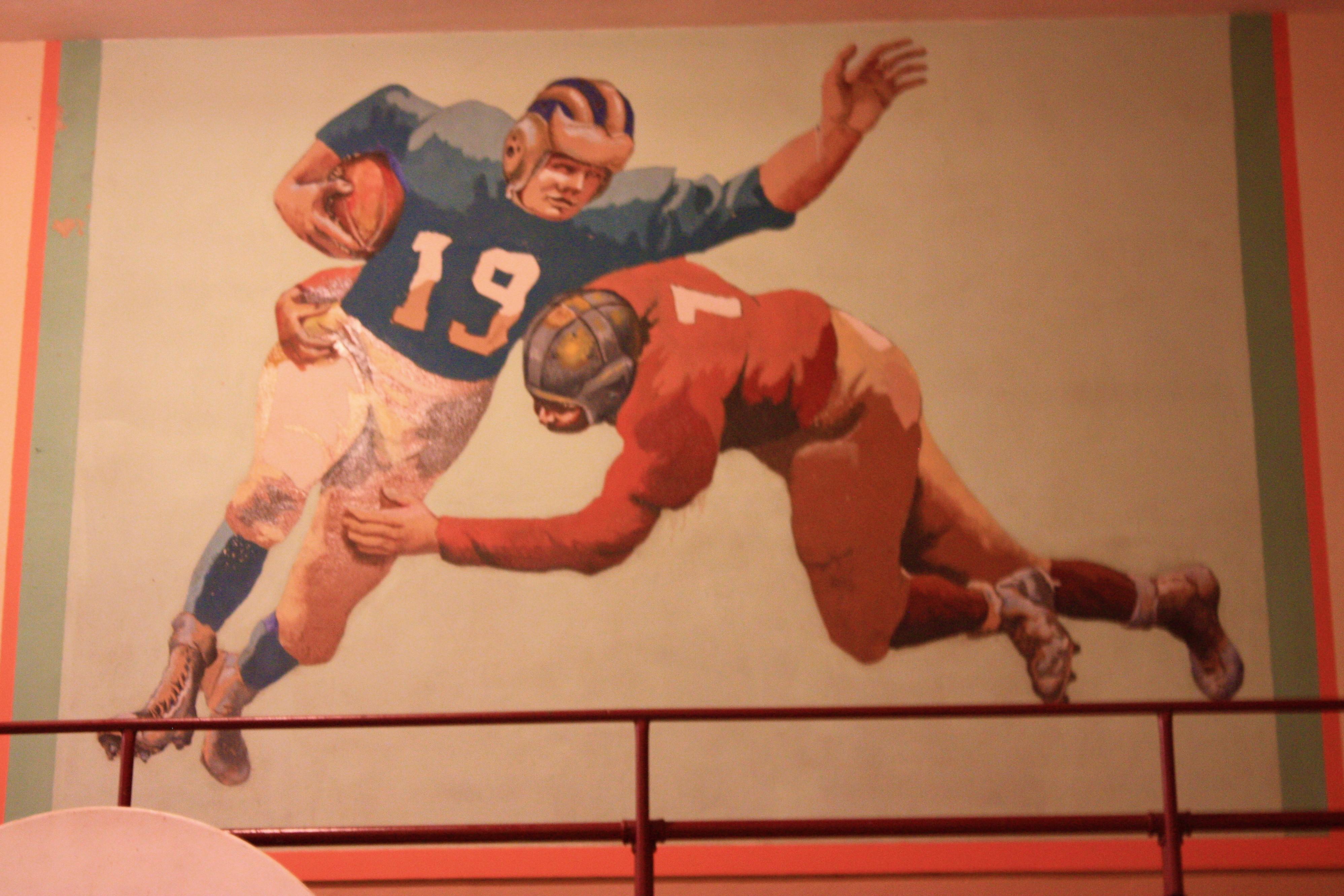 mural football