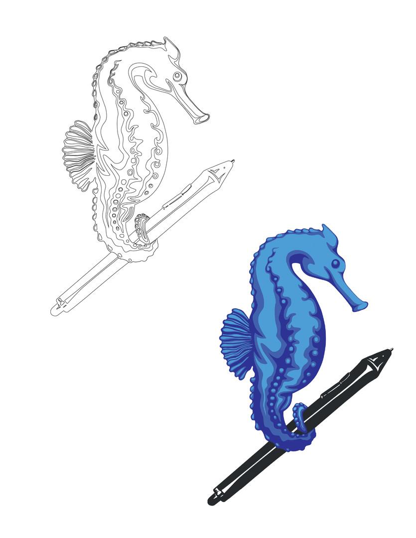 Final seahorse design