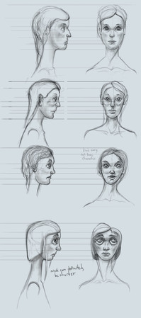 Zach Hunt's designs for the mystery woman