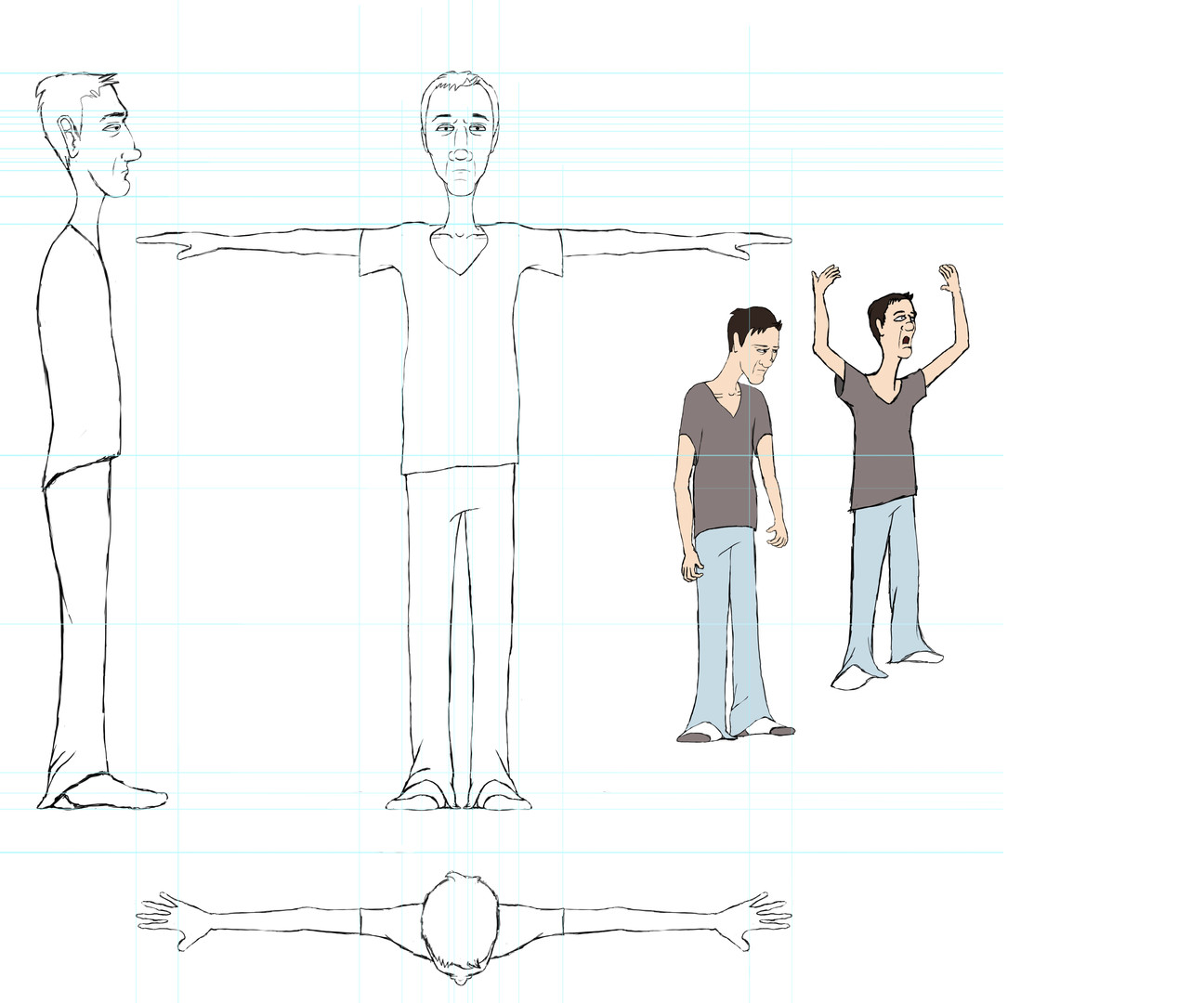 T-pose for the Daryl rig in Maya