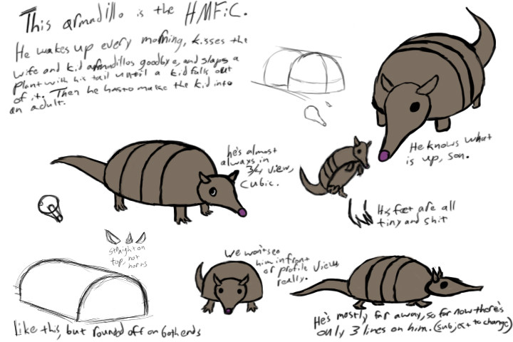 Armadillo Character sheet