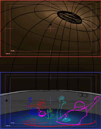 Layouts for shot 2