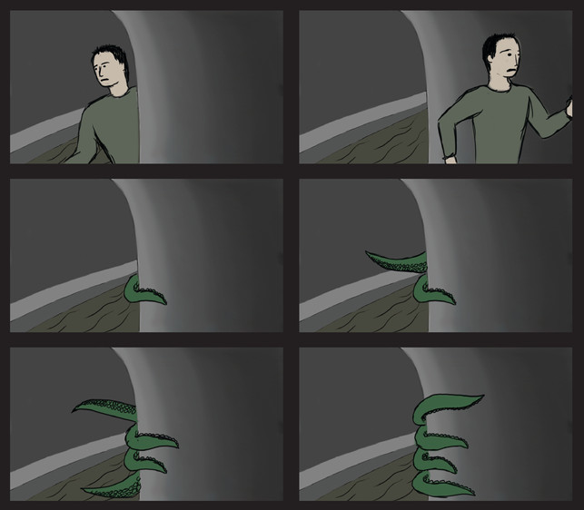 Incomplete storyboards for an animatic