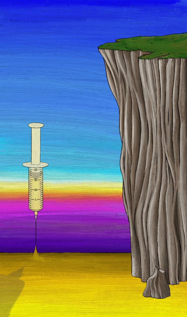 suicide, drug overdose tilting background