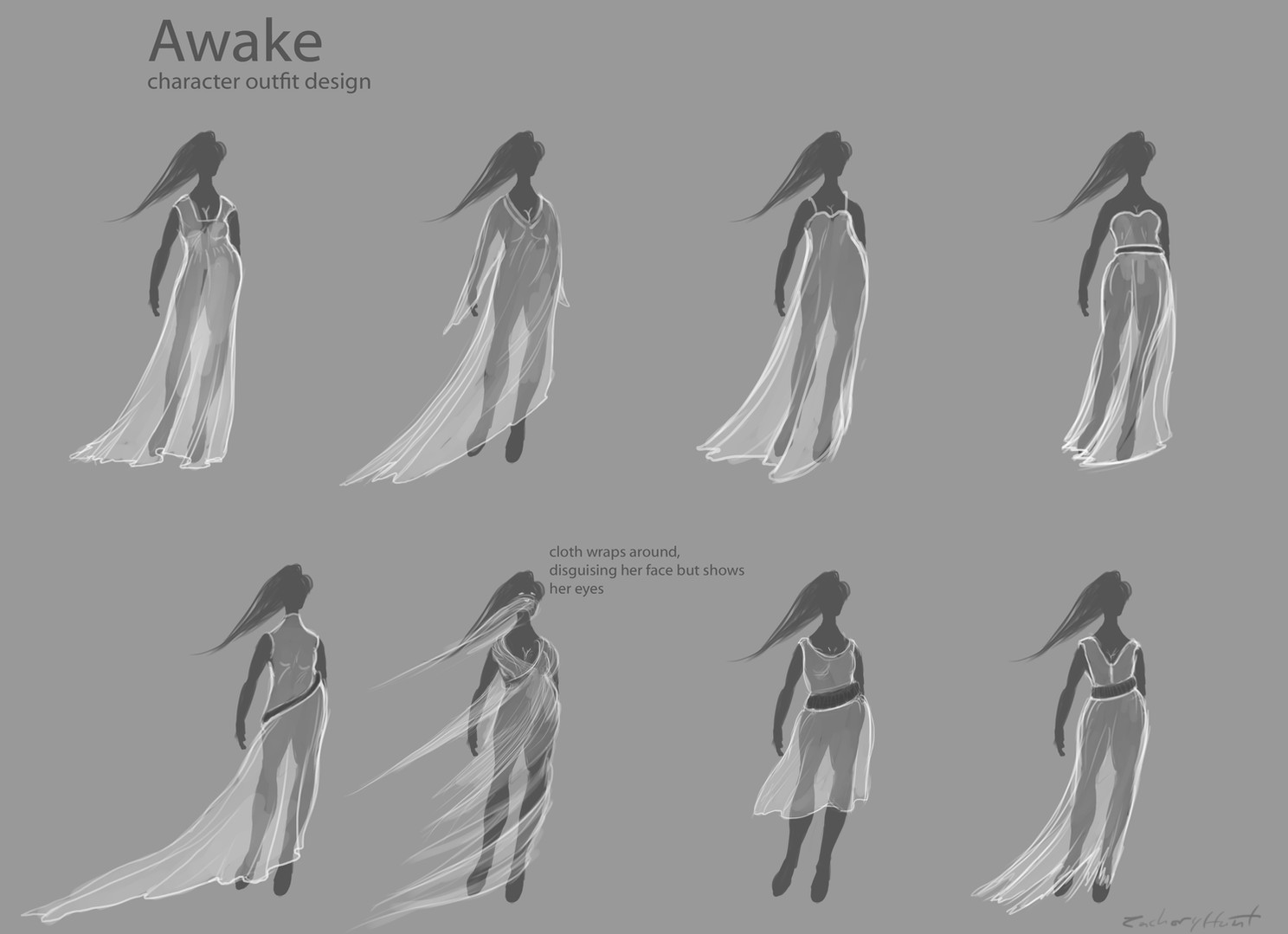 Zach Hunt's dress concepts