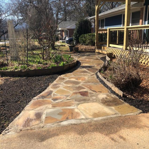 Flagstone Walkway with Mortered Joints -