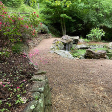 Walkway with Koi Pond and Waterfall - Cl